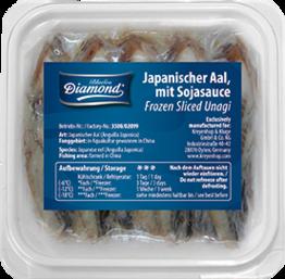 Aal-Scheiben für Sushi (Unagi)