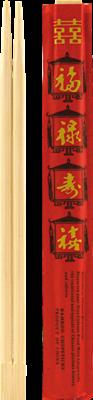 Essstäbchen, Bambus, rot