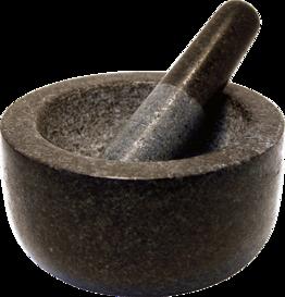 Steinmörser mit Stössel 6